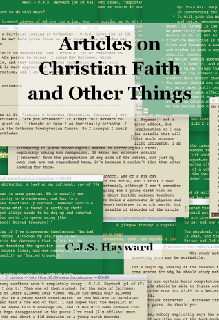 Articles on Christian Faith and Other Things
