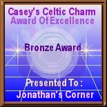 Casey's Celtic Charm Bronze Award