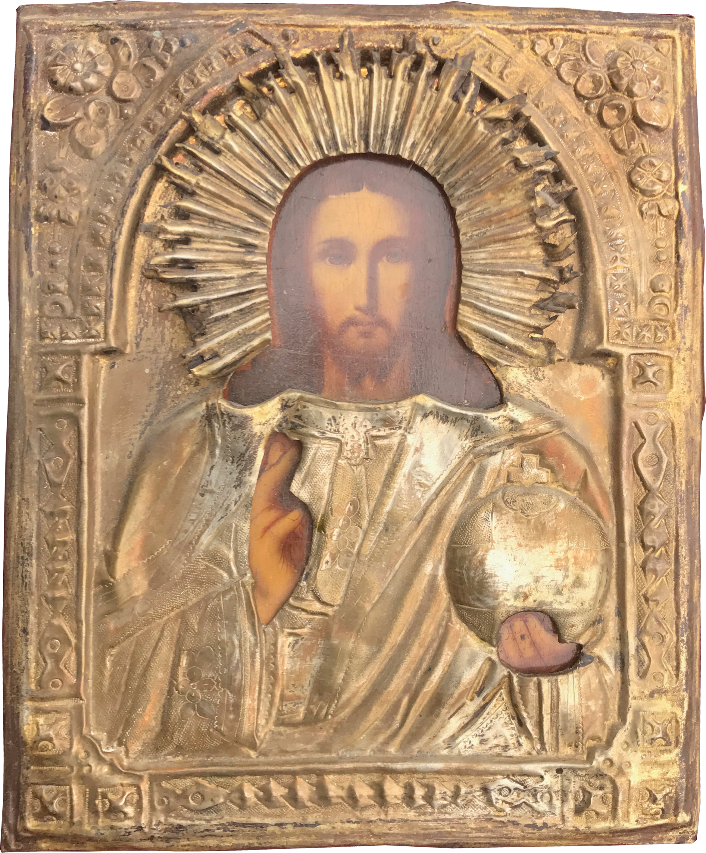 A 19th century Russian icon of Christ the King.