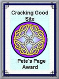 Pete's Page Award: Cracking Good Site
