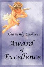 Heavenly Cookies Award of Excellence