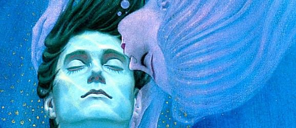 "A closeup to the cover of Robert A. Heinlein's ""Stranger in a Strange Land."""