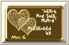Miss G's Heart and Soul Award