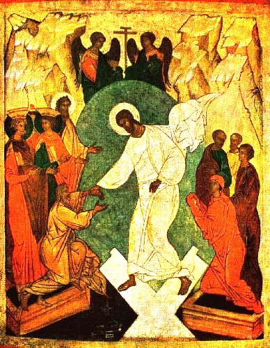 An Orthodox icon of the Resurrection.