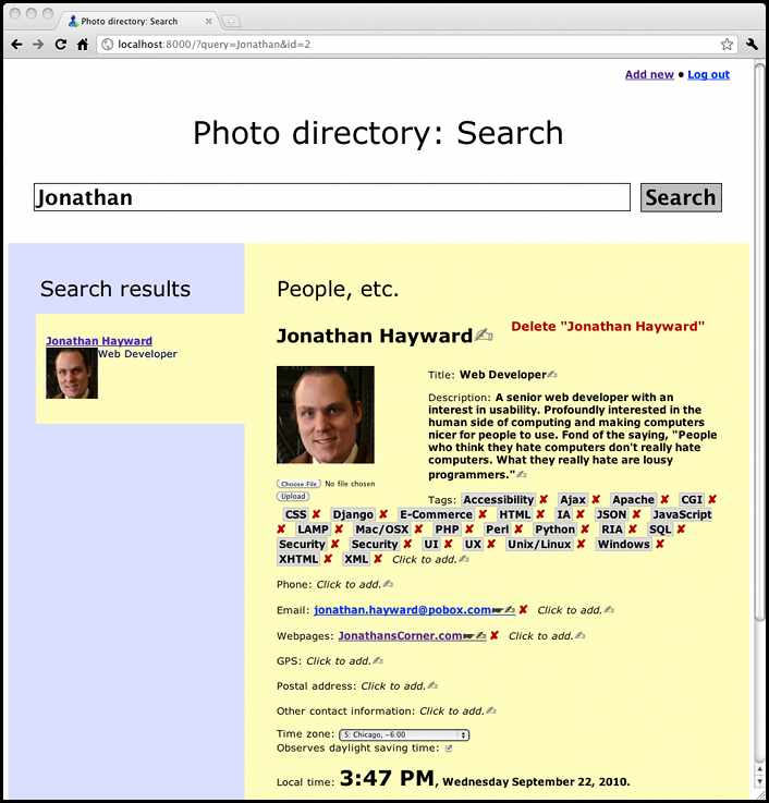 A screenshot of Hayward\s free intranet employee photo directory